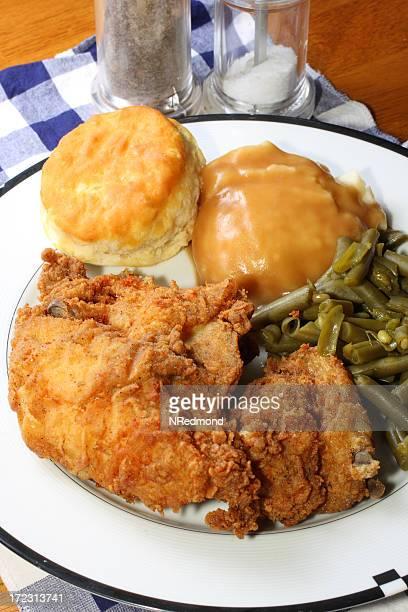 Pollo frito comida