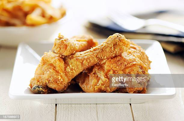 fried chicken - chicken leg stock photos and pictures