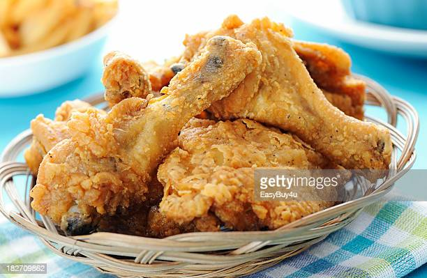 fried chicken - fritter stock photos and pictures