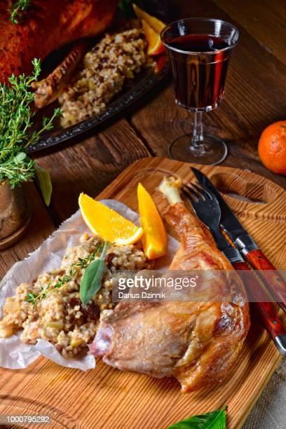 fried crisply roasted duck legs
