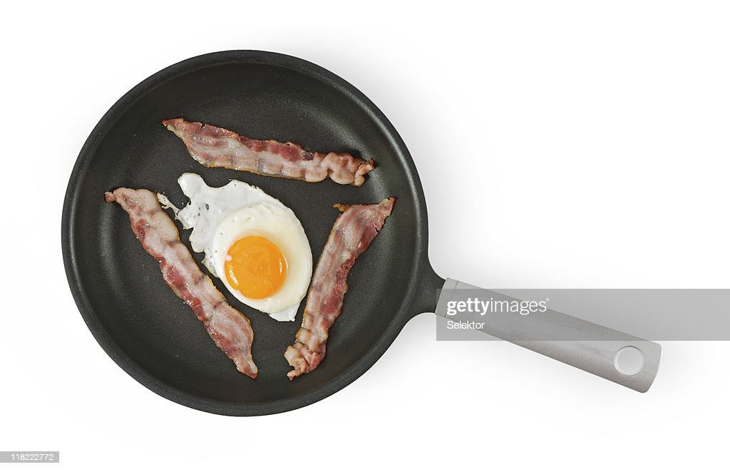 Fried Egg on Pan : Stock Photo