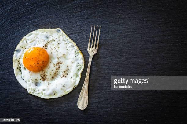 bodegón de huevo frito - huevo etapa de animal fotografías e imágenes de stock