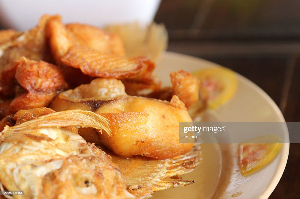Fried Fish with Fish Sauc. : Stock Photo