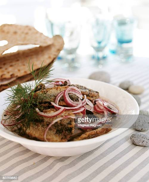 Fried herring Sweden.