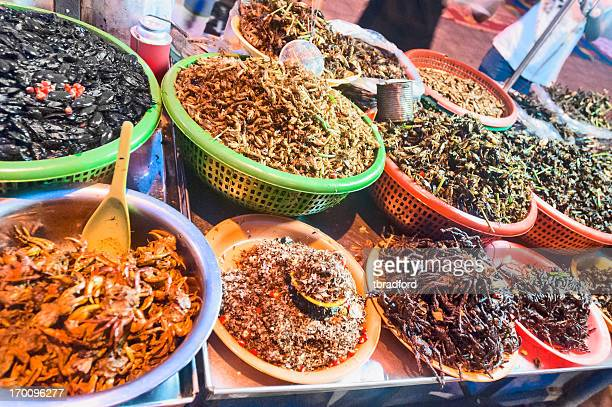 Fried Insects And Bugs For Sale In Phnom Penh, Cambodia