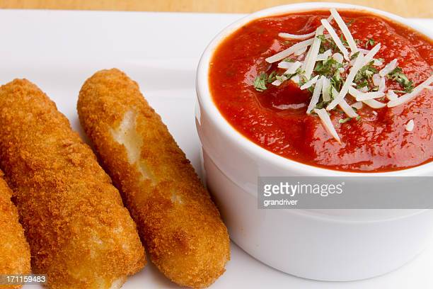 Fried Mozzarella Cheese Sticks and Marinara