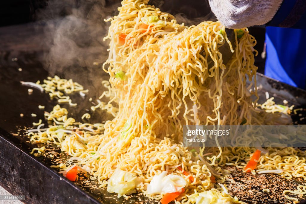 Fried noodle made with festival : Stock Photo