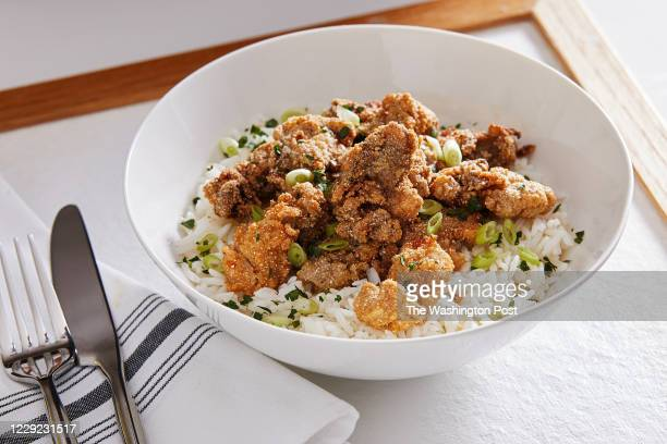 Fried Oysters and Rice photographed for Voraciously in Arlington Virginia on October 14 2020
