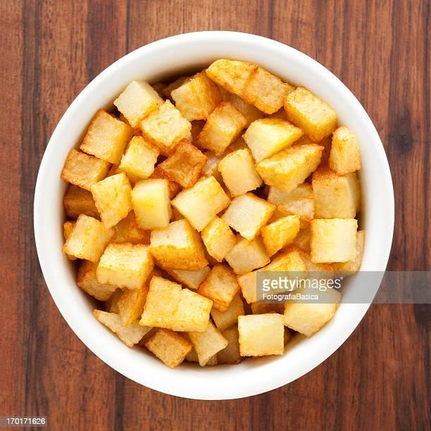Gebratene Kartoffel Würfel