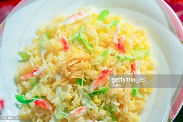 Fried rice in plate