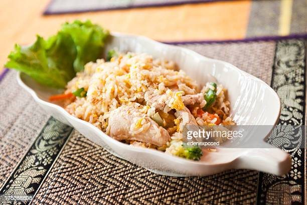 Fried Rice with Chicken and vegetables. Thai Style