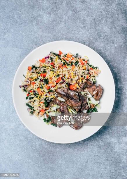 Fried rice with chicken liver