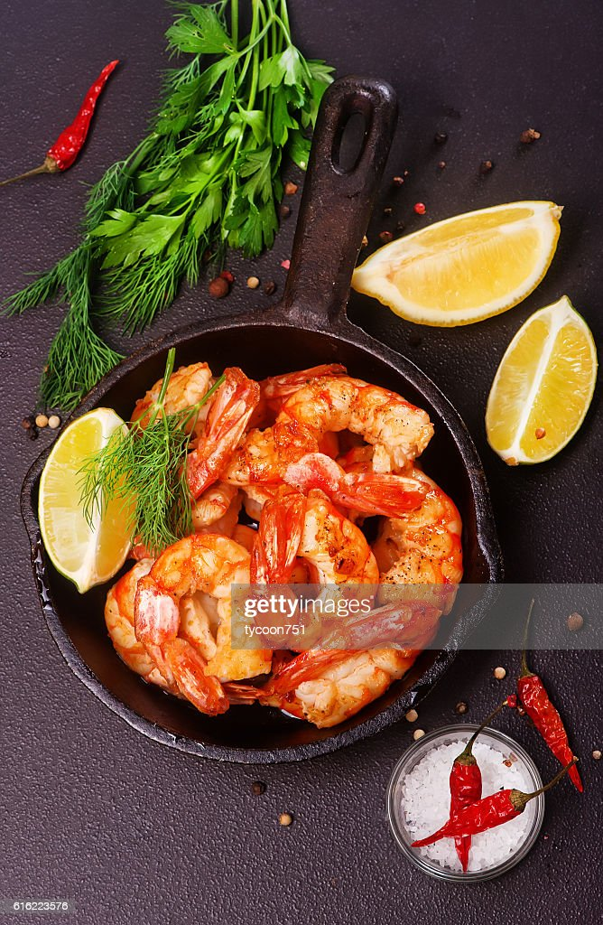 fried shrimps : Stock Photo