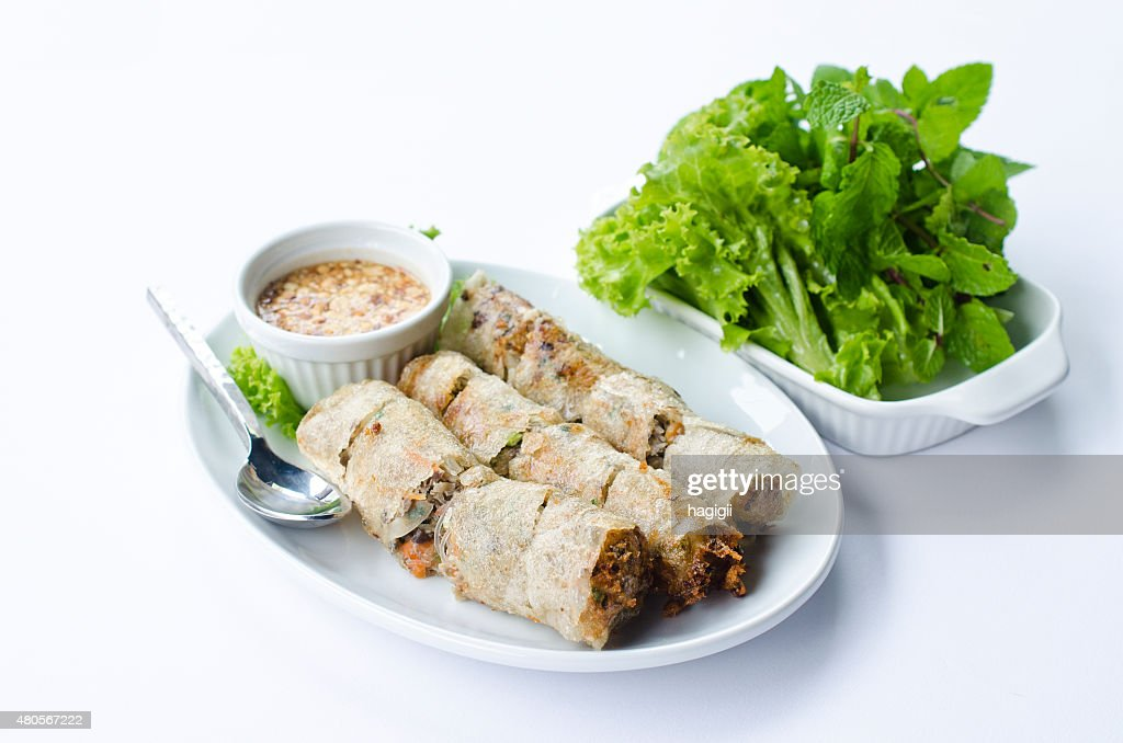 Fried spring roll : Stock Photo
