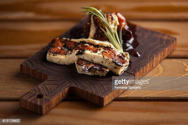 fried tofu - tapas stock photos and pictures