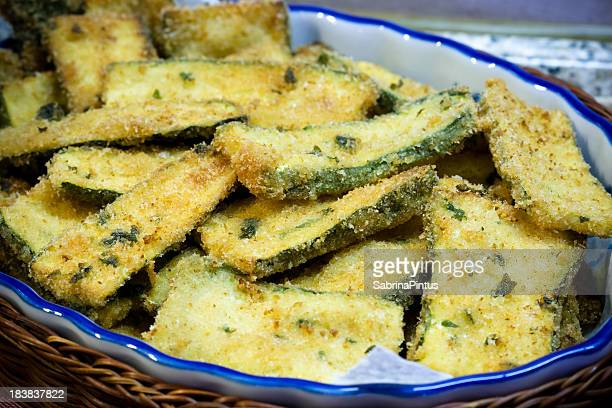fried zucchini - breaded stock photos and pictures