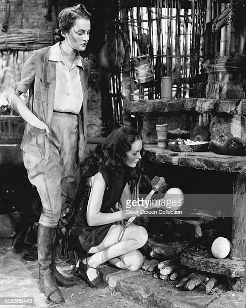 Frieda Inescort as Mrs Lancing and Maureen O'Sullivan as Jane Parker in 'Tarzan Finds A Son' directed by Richard Thorpe 1939