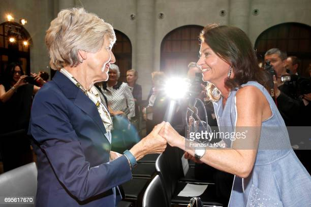 Friede Springer and Corinne Flick attend the Montblanc De La Culture Arts Patronage Award 2017 at Humboldt Carre on June 13 2017 in Berlin Germany