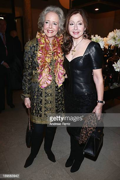 Friede Springer and Vicky Leandros attend Basler Autumn Winter 2013 14  fashion show during d3411e3096