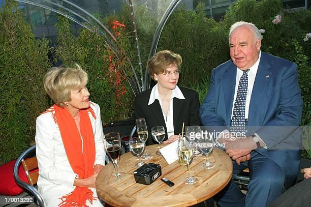 Friede Springer, Maike Richter And Helmut Kohl at BILD Summer Festival in Berlin 280605.