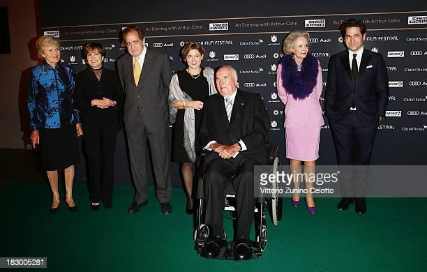 Friede Springer Paola Felix Arthur Cohn Maike Richter Helmuth Kohl Eve Von Hardenberg Kasrl Spoerri attend 'An Evening With Arthur Cohn' Green Carpet...
