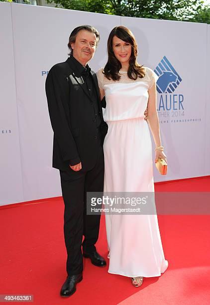 Friedemann Fromm and Claudia Mehnert attend the 'Bayerischer Fernsehpreis 2014' at Prinzregententheater on May 23 2014 in Munich Germany