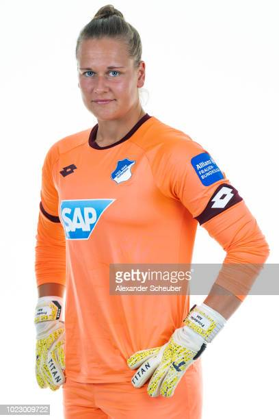 Friederike Abt of Hoffenheim poses during the TSG Hoffenhheim Women's team presentation on AUGUST 23 2018 in St LeonRot Germany