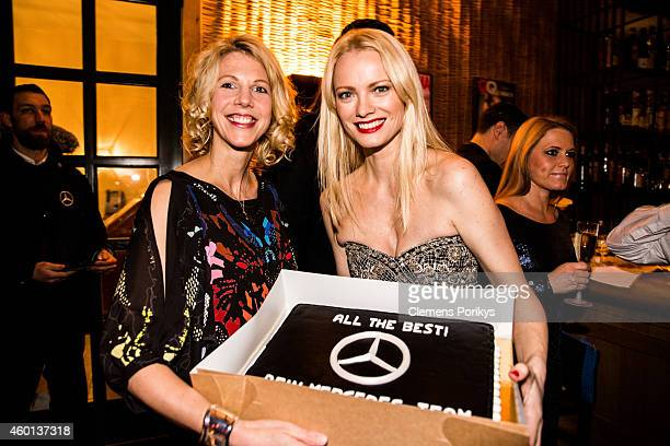 Friederike Balck and Franziska Knuppe attend the 40th birthday party of Franziska Knuppe on December 06 2014 in Berlin Germany