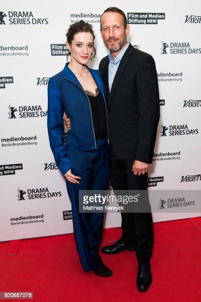 Friederike Becht and Wotan Wilke Moehring attend the 'Das Parfum' premiere during the 68th Berlinale International Film Festival Berlin at Zoo Palast...
