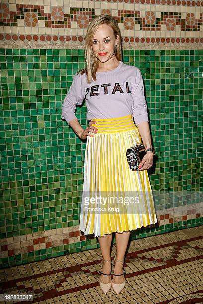 Friederike Kempter attends the Jimmy Choo mytheresacom Dinner In Berlin on May 21 2014 in Berlin Germany
