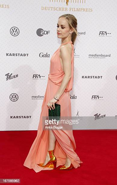 Friederike Kempter attends the Lola German Film Award 2013 at Friedrichstadtpalast at FriedrichstadtPalast on April 26 2013 in Berlin Germany