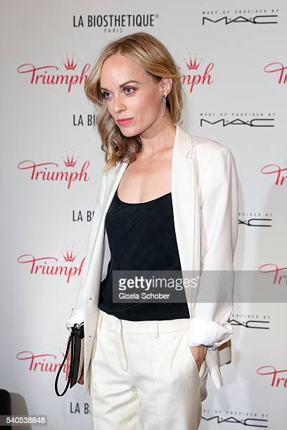 Friederike Kempter during the 'Triumph Maison Party' at Palais Nr 6 Schloss Nymphenburg on June 15 2016 in Munich Germany