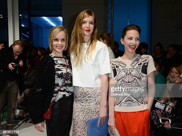 Friederike Kempter Pheline Roggan and Katharina Schuettler attend the Lala Berlin show during MercedesBenz Fashion Week Autumn/Winter 2014/15 at...