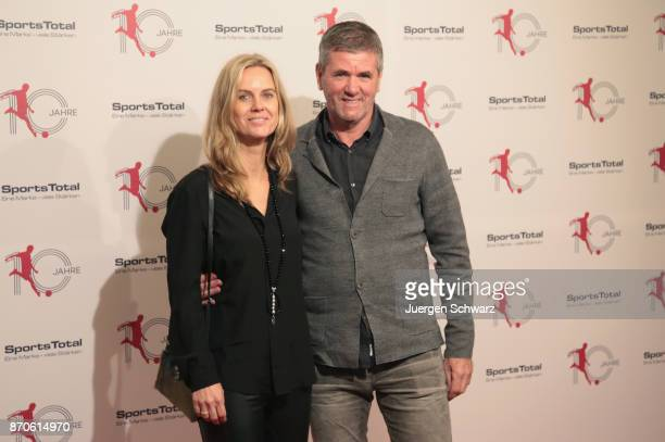 Friedhelm Funkel and his wife Anja pose at the 10th anniversary celebration of the Sports Total Agency on November 5 2017 in Cologne Germany