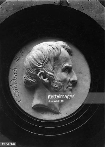 Friedrich, Caspar David *1774-1840+Maler und Graphiker, DeutschlandPorträt, Relief