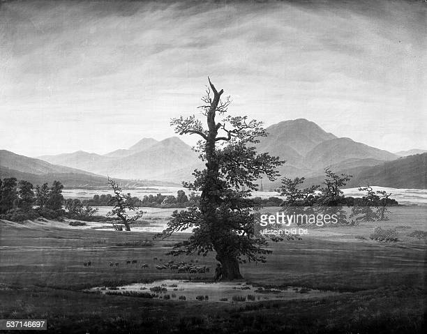 Friedrich, Caspar David , Maler, Graphiker, D, - der einsame Baum