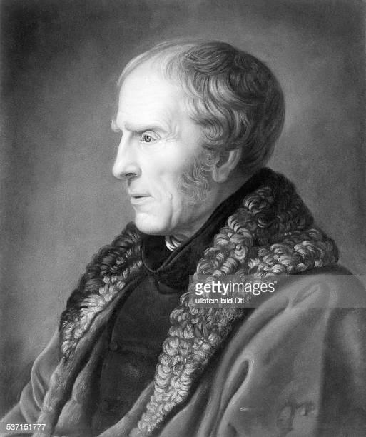 Friedrich, Caspar David , Maler, Graphiker, D, Selbstbildnis im Alter von 62 Jahren