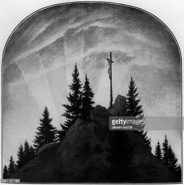 Friedrich, Caspar David , Maler, Graphiker, Deutschland, , Kreuz im Gebirge