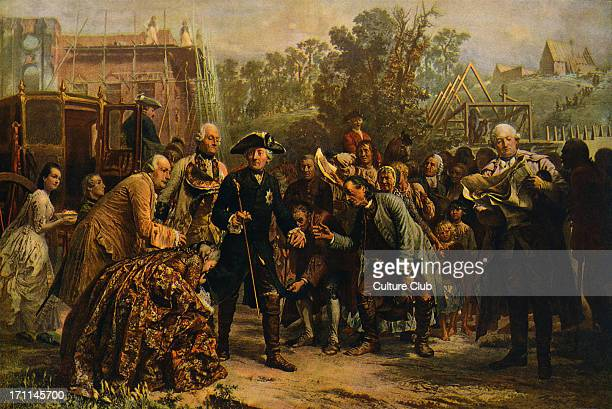 'Friedrich der Große auf Reisen' painting by Adolf von Menzel c 1850 Being greeted by the masses Frederick II of Prussia 24 January 1712 17 August...