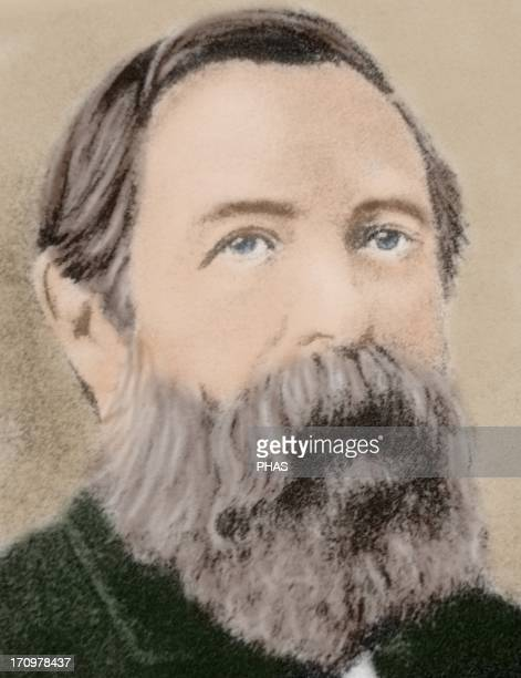 Friedrich Engels German social scientist author political theorist philosopher and father of communist theory alongside Karl Marx Colored portrait