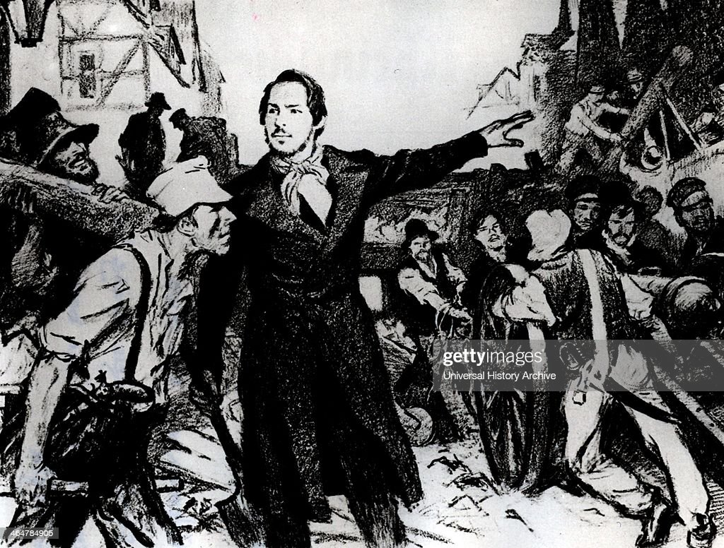 Friedrich Engels during riots of May 1849 : Nachrichtenfoto