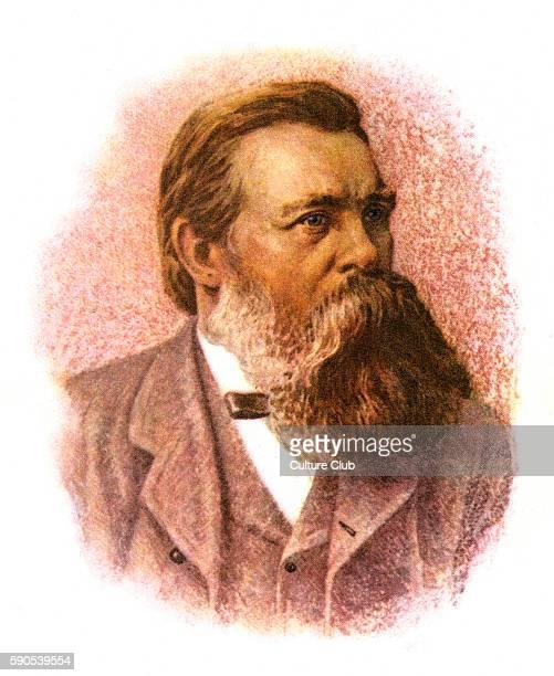 Friedrich Engels - portrait of the German philosopher. 28 November 1820 - 5 August 1895. Communism. Marxism. Socialism.