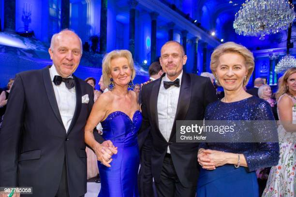 Friedrich Johannsmann Elisabeth Guertler Gery Keszler German Defence Minister Ursula von der Leyen during the Fete Imperiale 2018 on June 29 2018 in...