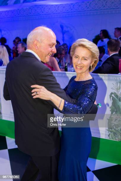 Friedrich Johannsmann German Defence Minister Ursula von der Leyen during the Fete Imperiale 2018 on June 29 2018 in Vienna Austria