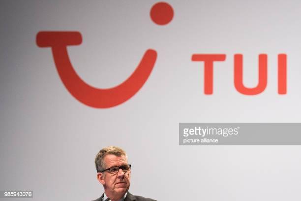 Friedrich Joussen, CEO of TUI Group, takes a look around at the general meeting of TUIAG in Hanover, Germany, 13 February 2018. Photo: Swen...