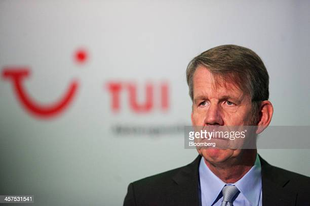 Friedrich Joussen, chief executive officer of TUI AG, pauses during a full year earnings news conference at the tour operator's headquarters in...