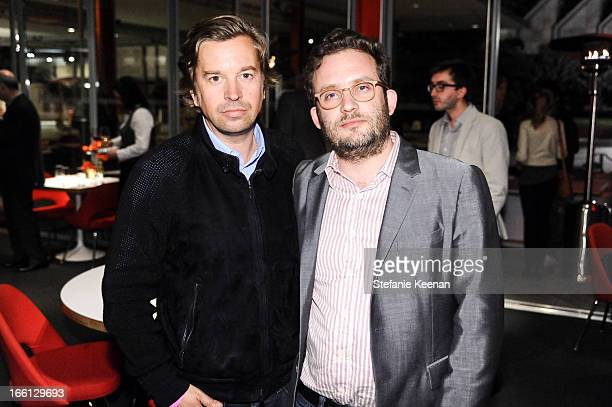 Friedrich Kunath and Julian Hoeber attend Takashi Murakami's international film premiere of Jellyfish Eyes at LACMA on April 8 2013 in Los Angeles...