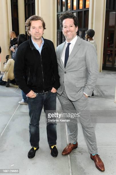 Friedrich Kunath and Tim Blum attend Takashi Murakami's international film premiere of Jellyfish Eyes at LACMA on April 8 2013 in Los Angeles...