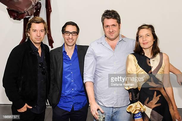 Friedrich Kunath Matthew Monahan Adam Rabinowitz and Lara Schnitger attend Georg Herold Dear Hunter on April 18 2013 in Los Angeles California