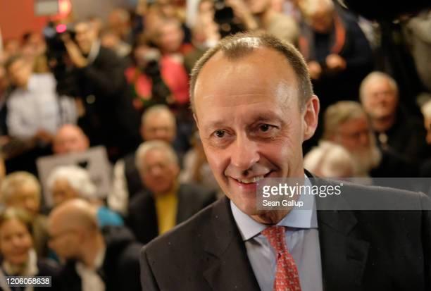 Friedrich Merz a prominent member of the German Christian Democrats attends an event hosted by the Forum Mittelstand an association representing...